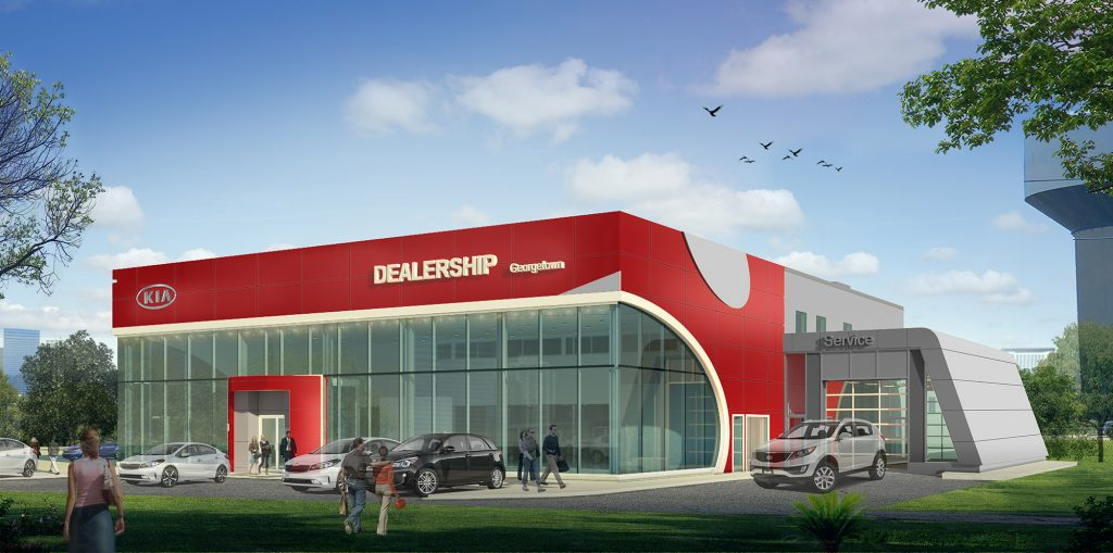 Kia Georgetown Dealership rendering