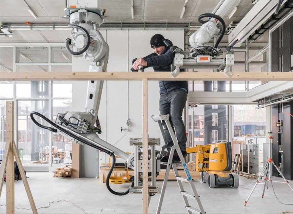 Installation using robotics