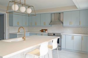 Transitional House-kitchen after
